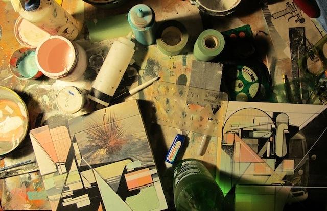 Augustine Kofie's studio. Photo courtesy of Breeze Block Gallery.