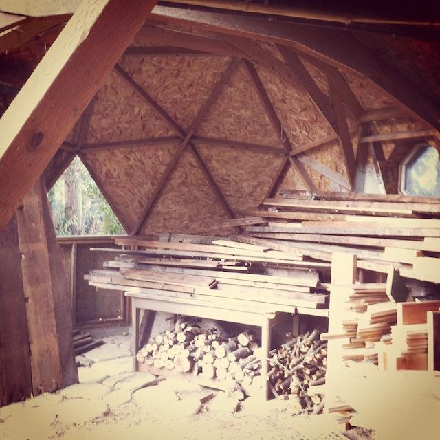 Christopher Derek Bruno's studio. Photo courtesy of Breeze Block Gallery.