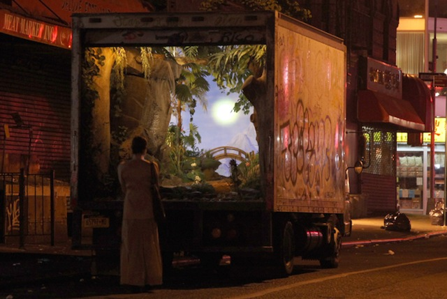 Banksy's mobile garden for the urban jungle. Look for it tonight on the streets of New York. Photo from banksyny.com.