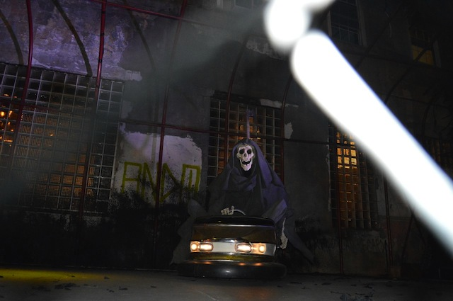 Banksy's grim reaper at Houston and Elizabeth streets. Photo courtesy of The L.I.S.A. Project.