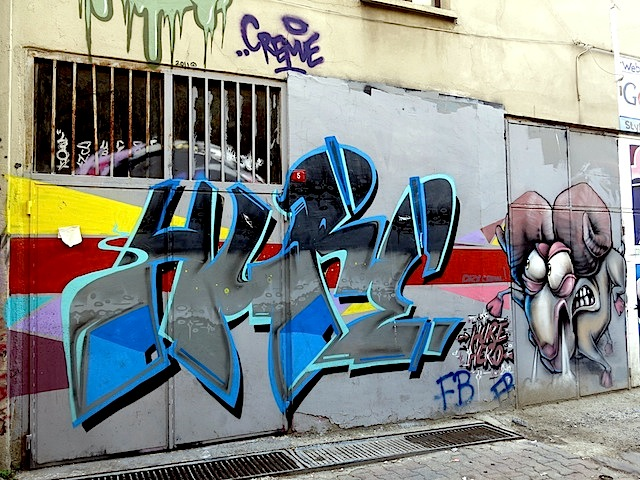 Local artists Hure and Hero