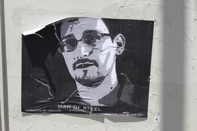 Edward Snowden sticker by Plastic Jesus. Photo by mknmv.