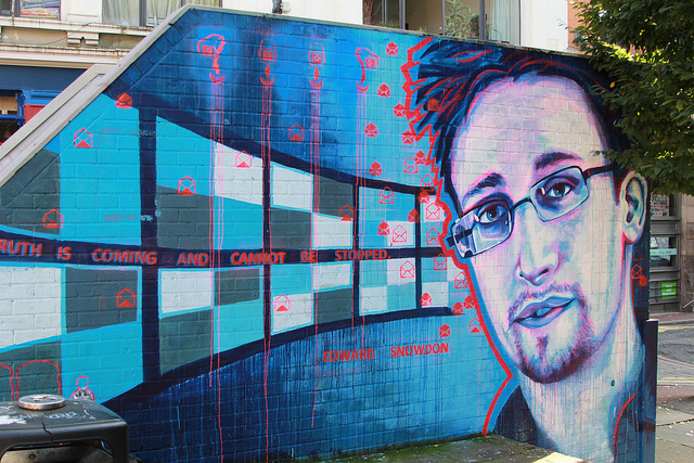 Edward Snowden by SLM Art in Manchester, UK. Photo by ajehals.