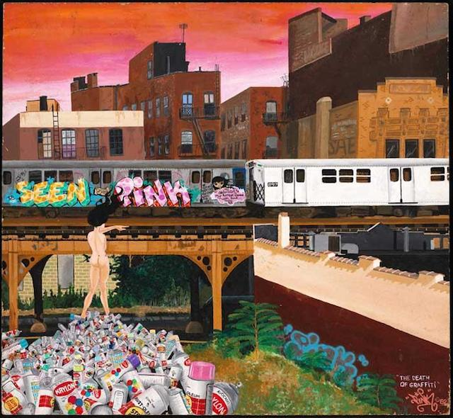 """The Death of Graffiti"" by Lady Pink. Photo courtesy of the Museum of the City of New York."