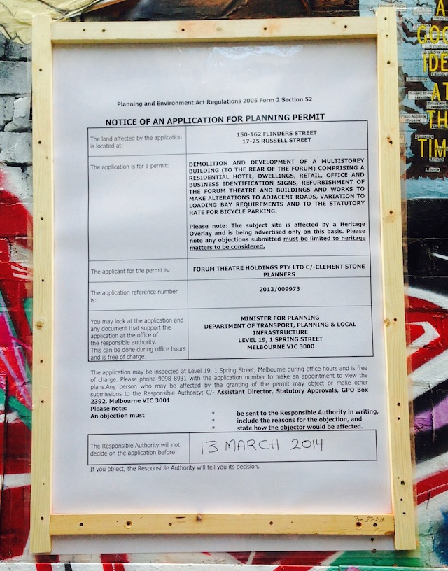 Planning Permit - Hosier Lane