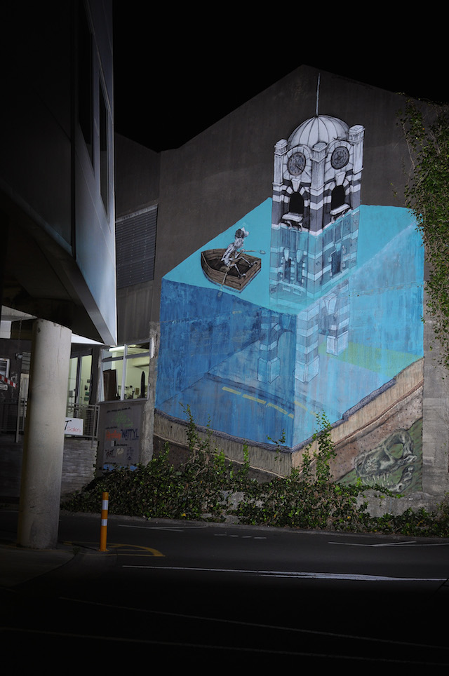 """Save Earth"" by Milarky in Taranaki, New Zealand. Photo by Ben D'ath."