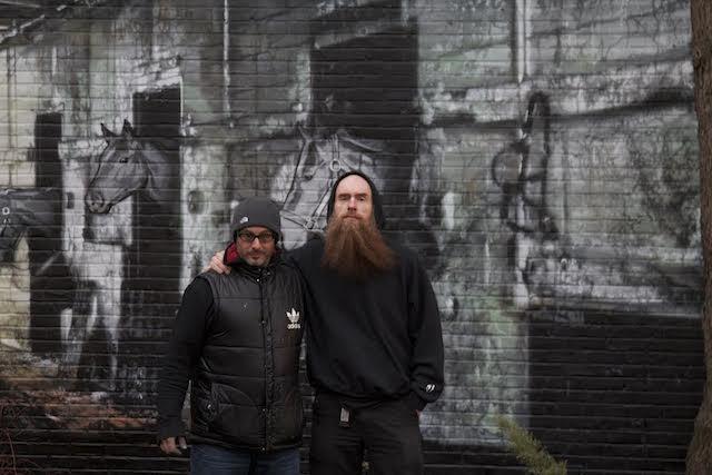 Joe Iurato and Logan Hicks, co-curators of The Mana Museum of Urban Arts.