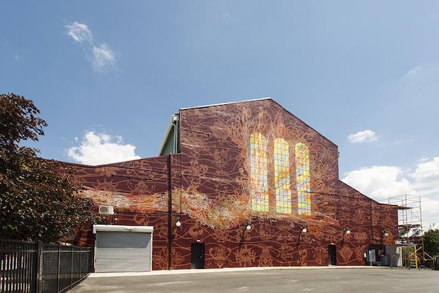 Amplify © 2014 City of Philadelphia Mural Arts Program/Ben Volta and Mural Arts Guild Program class of Fall 2013/Winter 2014