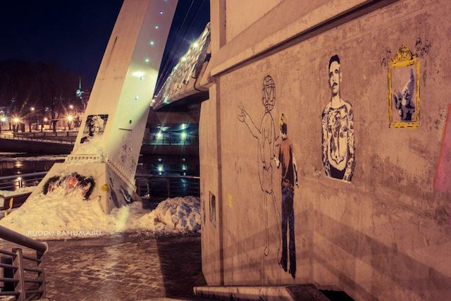 An illegal gallery under the bridge called the Freedom Gallery. Photo by Ruudu Rahumaru.