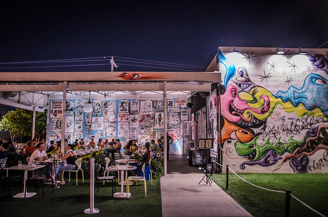 Inside of Wynwood Walls. Photo by Katie Wheeler.