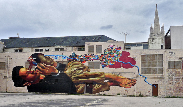 Ever's mural at Open Walls Baltimore. Photo by RJ Rushmore.