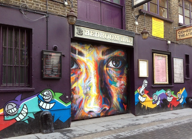Bogota-based Barcelona-born artist Pez and London-based David Walker