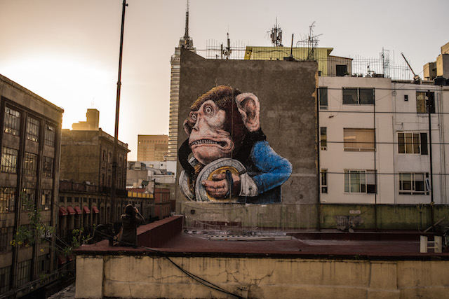 Ericailcane's mural post-censorship. Photo by RexisteMX.