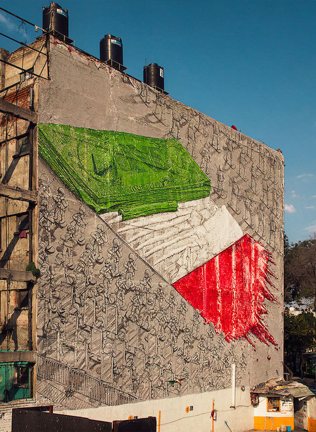 Mural by Blu. Photo from FIFTY24MX.