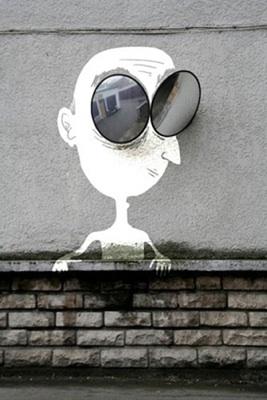 """""""Lunette Man"""" by Sandrine Estrade Boulet. Photo from Sandrine Estrade Boulet's website."""