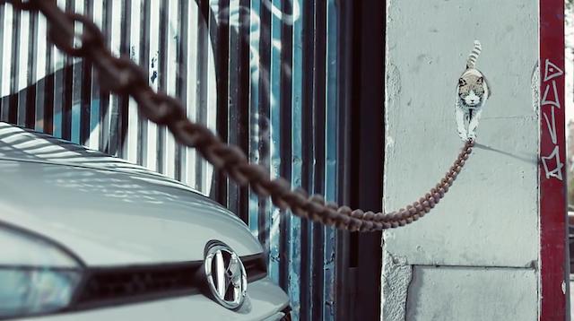 Stencil by JPS. Screenshot from the Hyundai ad.