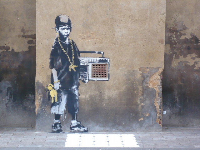 Banksy in London. Photo by RJ Rushmore.