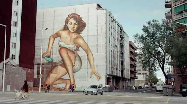 Screenshot from the Hyundai ad