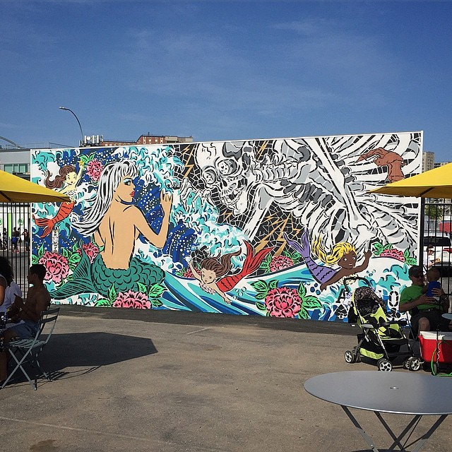 Lady Aiko at the Coney Art Walls (2015). Photo by RJ Rushmore.