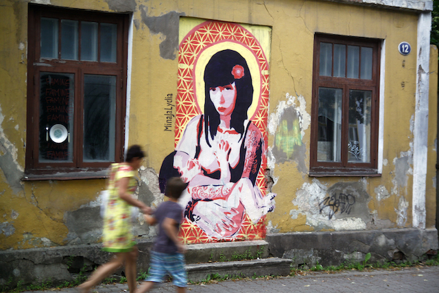 Example of illegal street art in Tartu by MinaJaLydia. Photo by suur jalutuskaik.