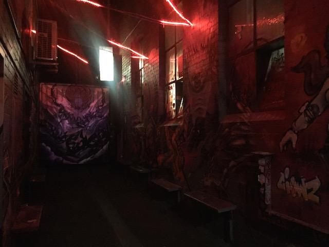 "Found on the deTour ""CBD Street Art At Night: When Street Lights Become Spotlights"""