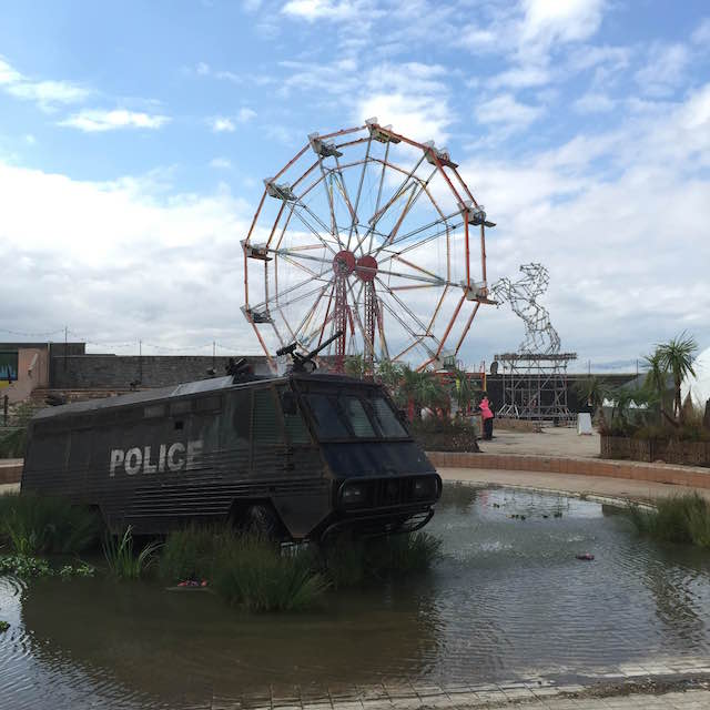 The view from inside of Dismaland
