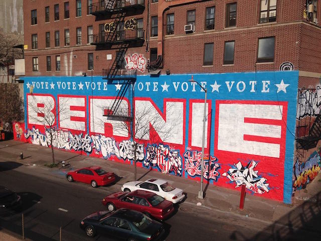 Bernie in the Bronx. Photo courtesy of Garrison Buxton.