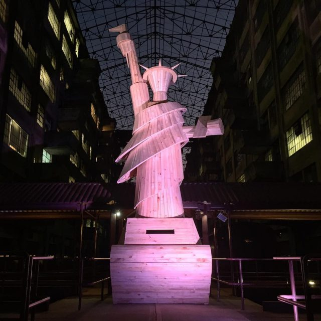 Lady Liberty at Pedro Reyes' Doomocracy