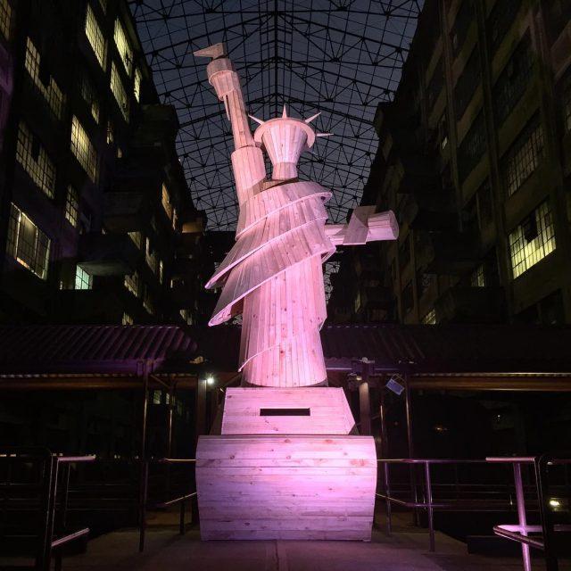 Lady Liberty at Pedro Reyes' Doomocracy