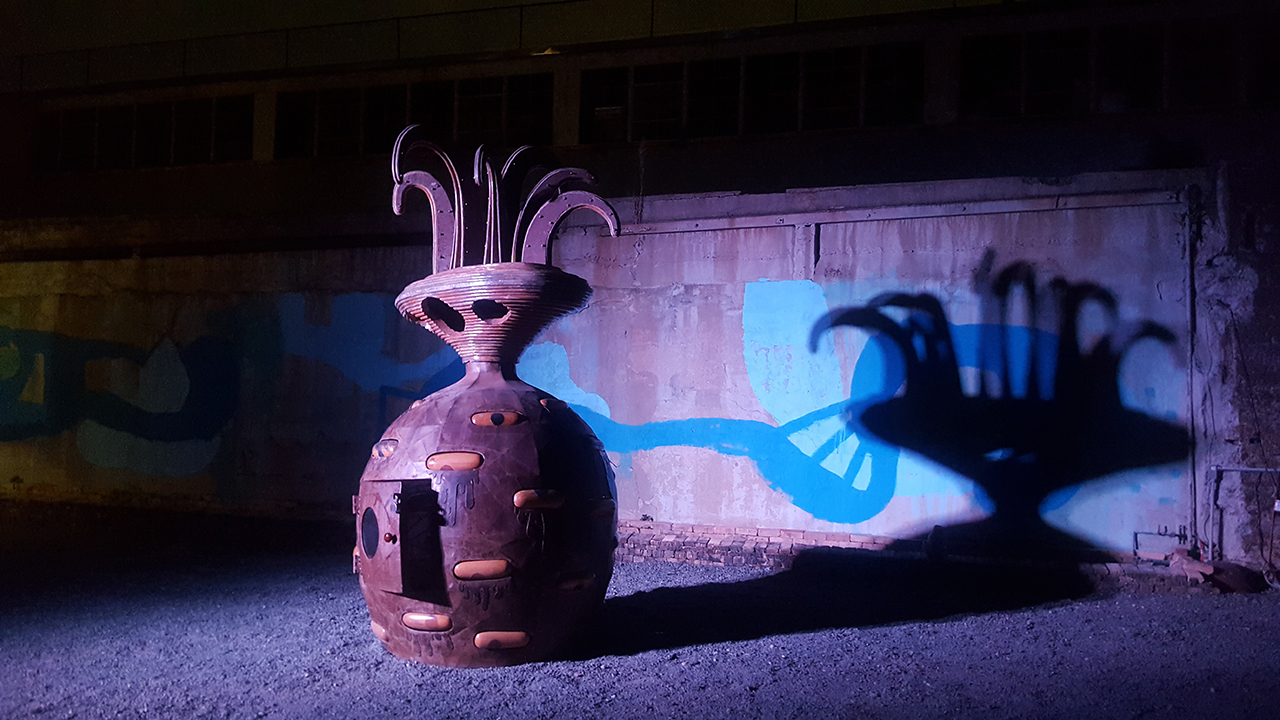 5049bd7fd Sculpture by UFO and William Thomas Porter at the Wastedland 2 screening at  the Knockdown Center. Photo by Jaime Jarvis.